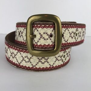 Lucky Brand embroidered belt M